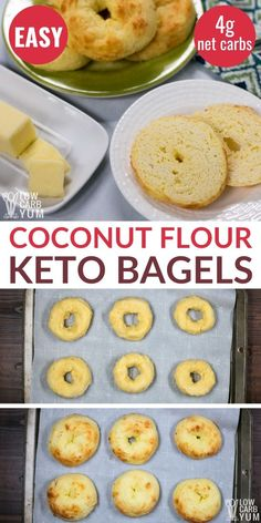 These fathead bagels made with a coconut flour fathead dough recipe have a light chewy texture It s the best keto bagels coconut flour recipe ketobagels ketobread Keto Bagels, Low Carb Bagels, Keto Pancakes, Keto Banana Bread, Best Keto Bread, Bread Diet, Yeast Bread, Galletas Keto, Fathead Dough Recipe
