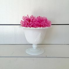 Milk Glass Compote, Footed Compote, Indiana Glass Compote, Colony Harvest Spooner