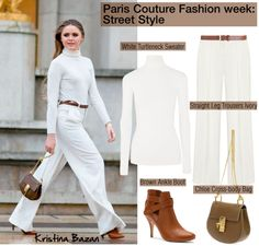 """""""Paris Couture Fashion week: Street Style"""" by helenevlacho ❤ liked on Polyvore"""