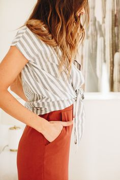 Just Stay Striped Top
