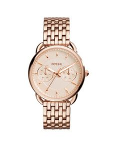Fossil Women s Tailor Multifunction Rose Gold-Tone Stainless Steel Watch  The beauty is in the details with our most noteworthy multifunction for  spring. 55a8f03adf5