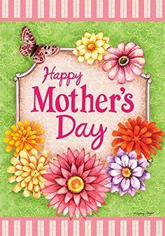 Happy Mother's Day Floral Garden Flag Butterfly Flowers 1... https://www.amazon.com/dp/B01MRXGS7Z/ref=cm_sw_r_pi_dp_x_YeWizb43XPKXK
