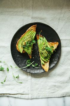 pesto w/ pea shoots, walnuts + mint | Laura, The First Mess for BuzzFeed Buzz