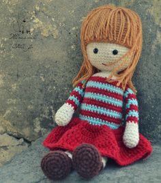 Crochet doll pattern amigurumi girl pattern crochet girl