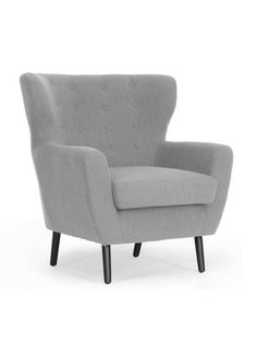 Lombardi Linen Club Chair by Design Studios on Gilt Home - this would be great by the fireplace