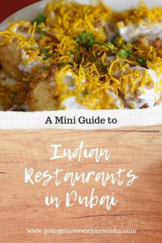 A Mini Guide To Indian Restaurants In Dubai Asia Travel, Travel Tips, Travel Guides, Travel Destinations, Balsamic Pearls, Travel Around The World, Around The Worlds, Chaat, Arabic Food