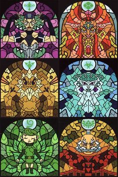 Sages in Stained Glass - Legend of Zelda: Wind Waker