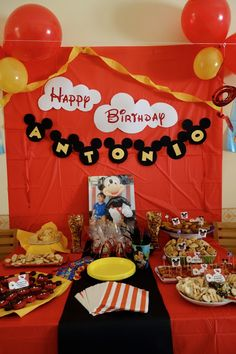 This Mickey Mouse Party is a must!  Everything goes so well together and all done by this company!  Check out all the other Mickey Mouse stuff.