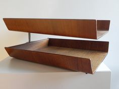 Bentwood letter tray by Florence Knoll.