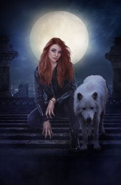 The Howling (SOLD) by charmedy on DeviantArt Fantasy Wolf, Dark Fantasy Art, Fantasy Artwork, Dark Art, Wolf Hybrid, Wolves And Women, Beautiful Fantasy Art, Wolf Pictures, Fantasy Photography