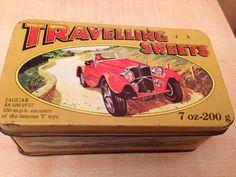 Travelling sweets E Type, Jaguar, Travelling, Sweets, Vintage, Sweet Pastries, Goodies, Vintage Comics
