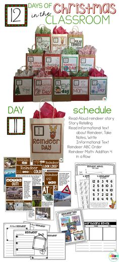 12 Days of Christmas in the Classroom is an engaging and educational way to count down to Christmas break.