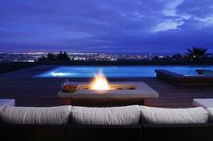 Exterior Fire and pool lounge  escape and live here