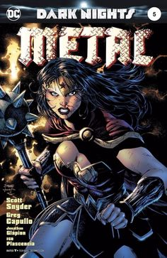 Dark Nights Metal - Wonder Woman by Jim Lee, colours by Alex Sinclair * Comic Book Covers, Comic Books Art, Comic Art, Book Art, Arte Dc Comics, Star Comics, Wonder Woman, Dark Knights Metal, Jim Lee Art