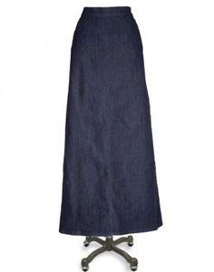 Image detail for -Aviv Girls Long Denim Jean Skirt | My favorite ...