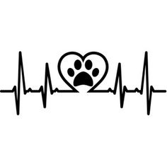 Paw Print in heartbeat vinyl decal window dog cat pet animal family love Chihuahua Tattoo, Dog Silhouette, Silhouette Design, Dog Tattoos, Tatoos, Car Decals, Vinyl Decals, Window Decals, Wall Stickers