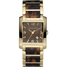 63a37db865e Women watches Women s Gold watches store Michael Kors Gold-tone and  Tortoise Shell Acrylic Bracelet