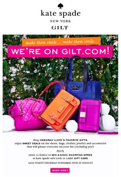 bright kate spade email