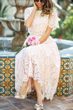 Dress midi lace petite fashion 61 ideas for 2019 Trendy Dresses, Cute Dresses, Beautiful Dresses, Casual Dresses, Fashion Dresses, Prom Dresses, Formal Dresses, Dress Prom, Wedding Dresses