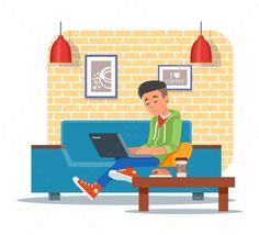 Vector Illustration of Coffee Shop Design Element