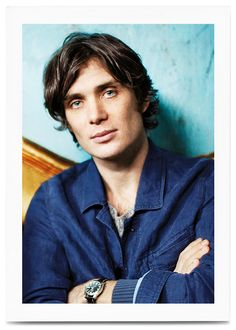 "Cillian Murphy is the bashful owner of the most dazzling sky-blue irises since Peter O'Toole's lit up the Jordanian desert in Lawrence of Arabia. ""It would be foolish to become self-conscious about it,"" he says, ""because I just see them as for looking through. It's not anything you can ever think about.""   Vogue UK 2012 photo, Independent.ie 2006 interview"