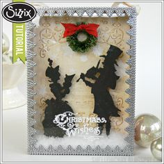 Sizzix Die Cutting Tutorial   Victorian Carolers Shadowbox by Shelly Hickox