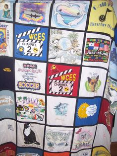 TShirt Quilt memory quilt made to order by sewingk1teacher on Etsy, $50.00