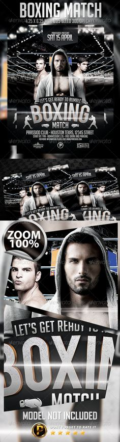 Boxing Fight Flyer Template Boxing fight, Flyer template and - competition flyer template