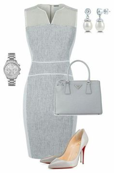 A fashion look from June 2015 featuring sports dress, man bag and Michael Kors. Browse and shop related looks. Classy Outfits, Chic Outfits, Beautiful Outfits, Dress Outfits, Fashion Dresses, Mode Outfits, Office Outfits, Office Fashion, Work Fashion