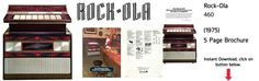 Rock-Ola 460 (1975) 5 Page Brochure