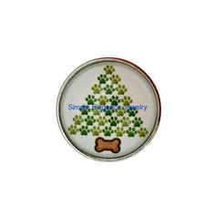#3027 Dog Bone Christmas Tree Snap 20mm for Snap Jewelry