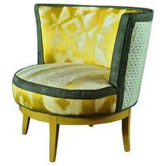 MidCentury Swivel Barrel Chair