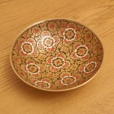 Solid brass painted tray / plate / dish / bowl   by UKAmobile