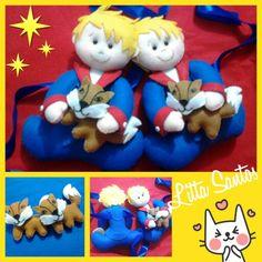 Par de prendedor de cortinas Pequeno Príncipe segurando a raposa. Informações e encomendas: e_artesanato@hotmail.com