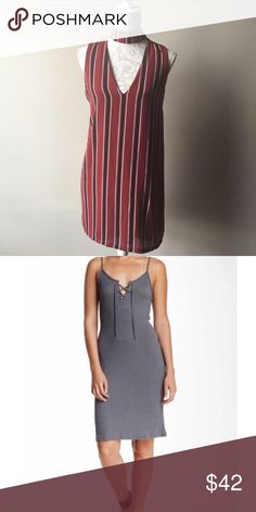 Bundle for Teresa Missguided striped shift dress size 4 and Nordstrom socialite Midi dress size small. Dresses