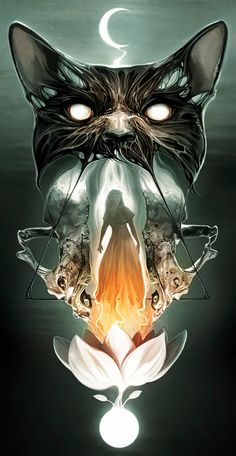 Gothic Fantasy Art, Bild Tattoos, Abstract Portrait, Egyptian Art, Horror Art, Art Sketchbook, Comic Books Art, Dark Art, Surrealism