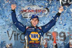 Chase Elliott, driver of the NAPA Auto Parts Chevrolet, celebrates in Victory Lane after winning the NASCAR XFINITY Series College Savings 250 at Richmond International Raceway on September 2015 in Richmond, Virginia. Michael Waltrip, Martin Truex Jr, Chase Elliott, Saving For College, New Drivers, Nascar Racing, Paris, Victorious, 4 Life