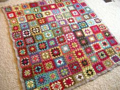 Love the colours of this Granny Square blanket