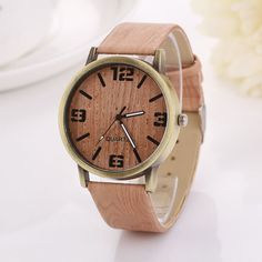 2016 Hot Sale Vintage Wood Grain Watches Fashion Women Quartz Watch Wristwatches Gift Good-looking AP 2 Oh just take a look at this!  #shop #beauty #Woman's fashion #Products #Watch