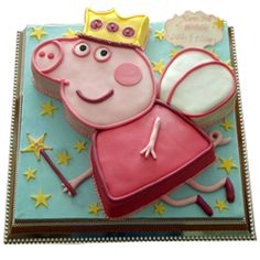 My son LOVES Peppa pig! I think Peppa pig driving a tractor would send him over the moon, LOL! Peppa Pig Birthday Cake, Birthday Cake Girls, 2nd Birthday Parties, Themed Parties, Princess Birthday, Birthday Ideas, Little Girl Birthday, Bday Girl, Peppa Pig Party Supplies