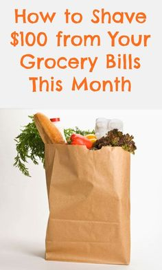 Shave $100 from your grocery bills this month with these smart money-saving tips and tricks! Best Thrifty Tips #thrifty