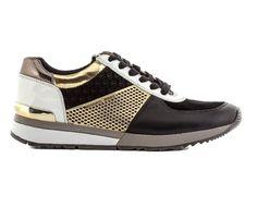 Επιλέξτε Michael Michael Kors Sneakers Γυναικεία Χρώμα Μαύρο-Χρυσό για να εντυπωσιάστε σε κάθε σας ε Michael Kors, Mary Janes, Slip On, Sneakers, Shoes, Fashion, Tennis, Moda, Slippers