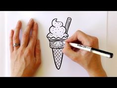 How to Draw a Cartoon Ice Cream Cone Cartoon Ice Cream Cone, Cartoon Cupcakes, Drawing Videos For Kids, Drawing Ideas, Drawings For Boyfriend, Tumblr Love, Wayne Thiebaud, Flower Coloring Pages, Girl Sketch
