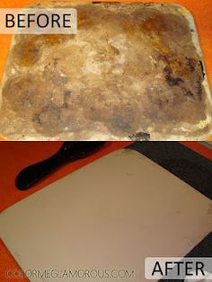 how to clean stoneware.  I am seriously so exited about this!  My Pizza stone is looking so bad!