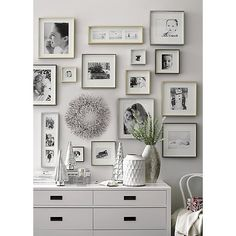 Shop picture frames from Crate and Barrel to display photos and wall art in a range of styles and shapes including square, rectangular and circular. Silver Picture Frames, 11x14 Frame, Creative Wall Decor, Creative Walls, Crate And Barrel, White 6 Drawer Dresser, Bedroom Wall, Bedroom Decor, Bedroom Ideas