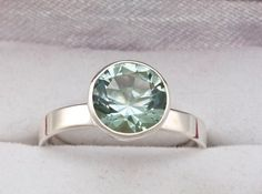 Green Amethyst Engagement Ring by janeysjewels on Etsy, $285.00