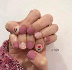 • Nail Design 튤립네일로 기분전환하기! : 네이버 블로그 Diy Nails, Manicure, Dream Nails, Short Nails, Nails Inspiration, Pretty Nails, Claws, Nail Ideas, Hair And Nails
