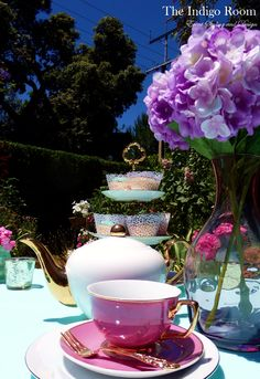 The Indigo Room Event Styling and Design: High Tea - Table Setting
