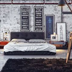own your morning // urban men // city life // urban suite // city living // loft // city boys // bedrooms // interior // home decor // men //