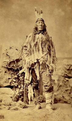 Lean Wolf aka Cheshakhadakhi aka Tcecaqadaqic - Hidatsa 1880: